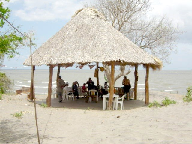 Palapa as bar