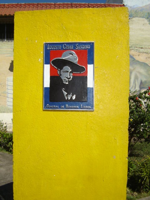 Sandino plaque in Leon