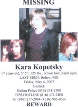 MISSING: KARA KOPETSKY OF BELTON-MO