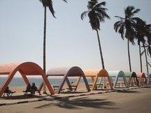 Praia das Miragens: Arcadas
