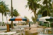 Praia das Miragens:  esplanada