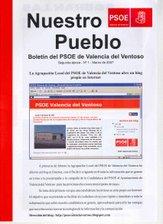 Nuestro Pueblo - Boletín del PSOE de Valencia del Ventoso- Segunda época - Nº 1 - Marzo de 2007