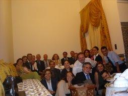 Foto de familia en la Casa de Relaciones Internacionales de Fez