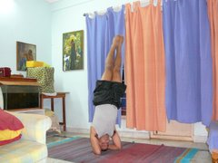 Shirshasana Variation