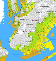 Brooklyn: Major Hurricane Map