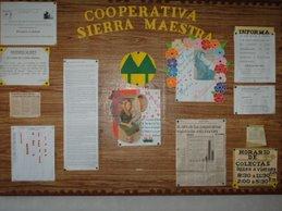 Cartelera informativa de la cooperativa