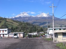 View of Las Ilinizas from La Libertad