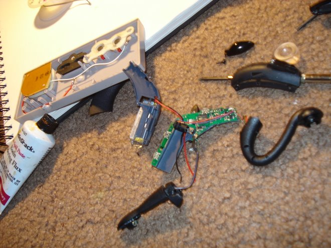 take apart the head set