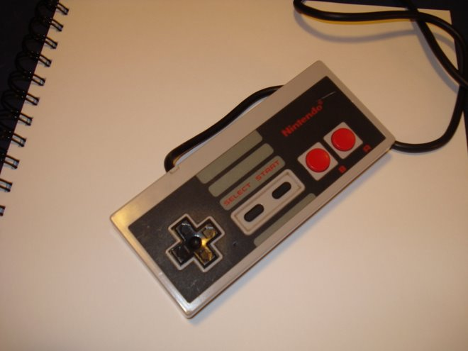 one NES control pad