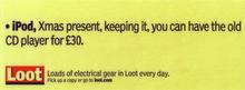 Loot - iPod