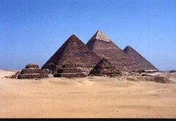 Pyramids at Giza in Kemet (Modern day Egypt)