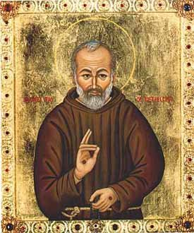 ÍCONE DO PADRE PIO