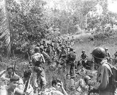 Guadalcanal Marines take a break