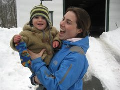 Parker with Auntie Megan