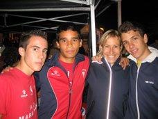 Jorge, Sami y yo con Marta Dominguez