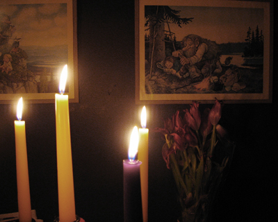 trolls, candles & flowers #1