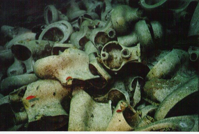 Restos de cerámica( y no fenícia precisamente)