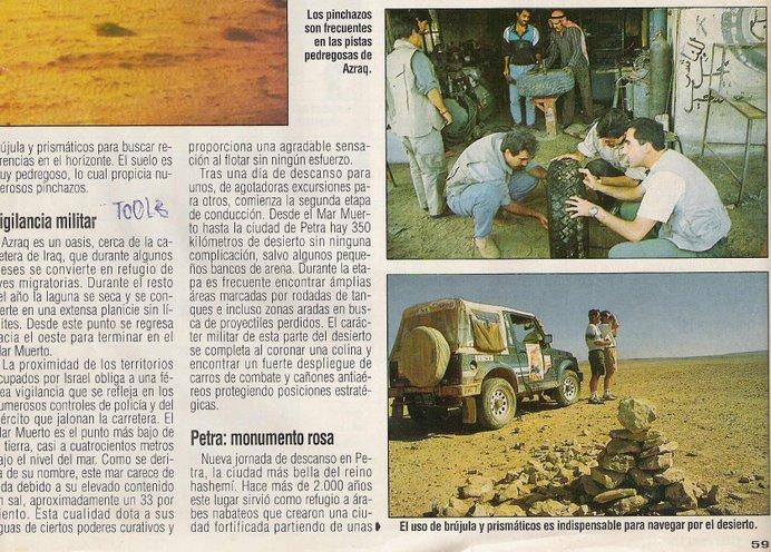 Página publicada en la revista COCHE actual, fotos hechas por Jose A.Peñaranda