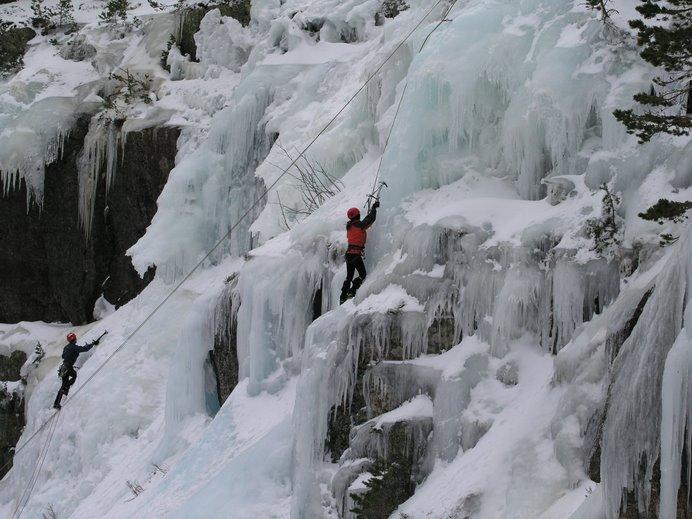 Algunas de las cascadas del primer sector.