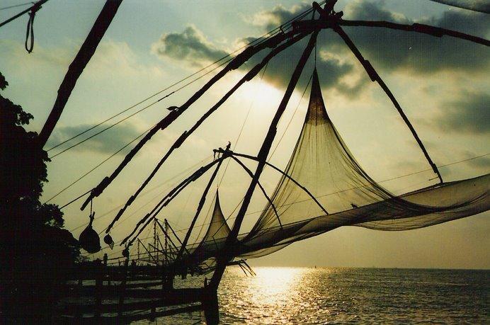 Cochin...inolvidable puesta de sol.