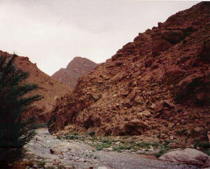 Cañadas convertidas en caminos por donde según epocas del año solo circula el agua.