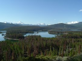 Lake Dillon in the Rocky Mountains