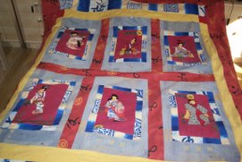 couvre-lit patch japonais