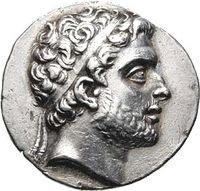 """Filipo V de Macedonia, """"el cielo de Hellas"""", llevando la diadema real"""