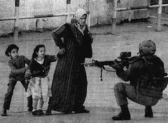 Israeli's soldier attacking Children