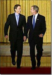 Bush & Blair are in love .