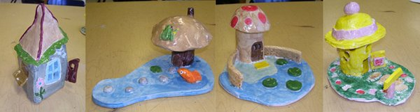 Middle School 8th Grade Ceramic Homes