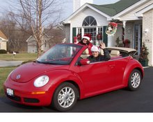 "Robert and I in my ""Love Bug"""