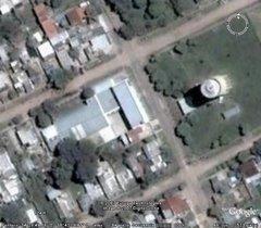 Vista aérea de la escuela.