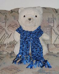 Knit with Ribbon Scarf