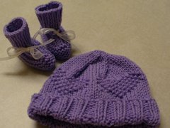 Lavender Heart Hat and Boots