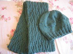 Drop Stitch Scarf and Hat