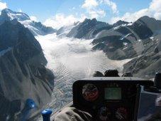 le glacier blanc vu d'un planeur (parc des ecrins)