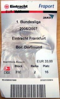 Eintracht Frankfurt  - Borrusia Dortmund