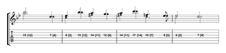 melody played alternately with fourth and first fingers