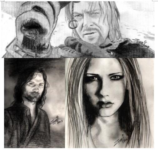 Retratos a lápiz o creyón