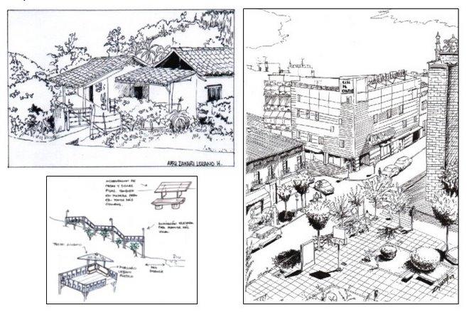 Paisajismo y dibujo arquitectónico