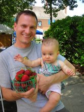 Bradford and Lucy June 9th at the Ashland Strawberry Faire