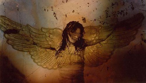 """""""Pero el arcangel se sofoca y un ala azul se le lastíma"""""""