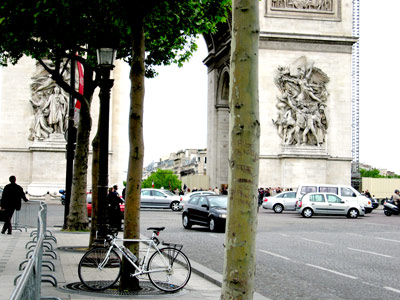 My Latest Ride Parked in Front of Arc de Triomphe