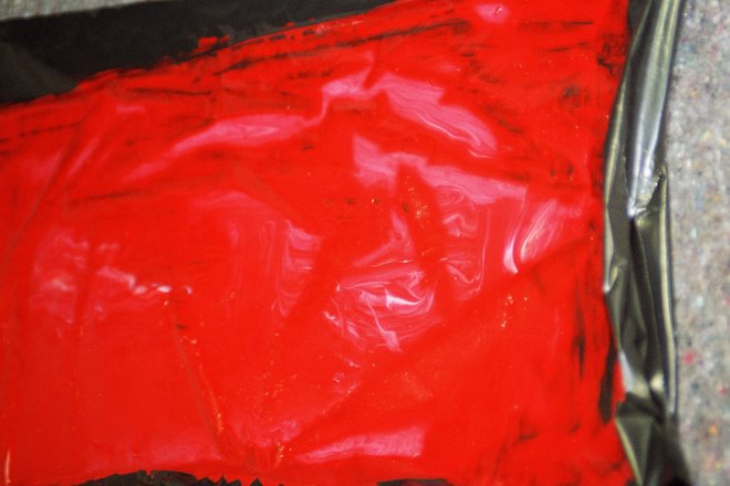 détail pigment et acétate