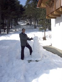 Me frolicking in the snow during a recent visit to Austria...