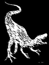 staurikosaurio en carboncillo