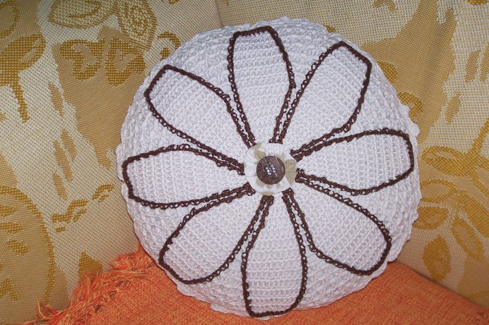 """""""Mandala-flor""""  em barbante"""
