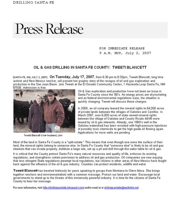 Tweeti Blancett Press Release