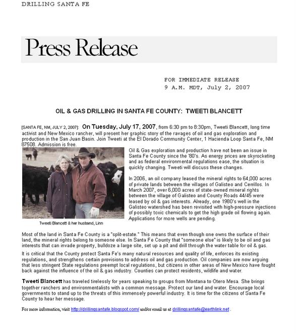 Tweeti Blancett Press Release